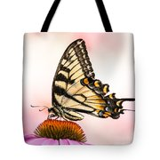 Tiger Swallowtail On Coneflower Tote Bag