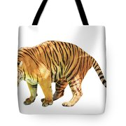 Tiger White Background Tote Bag