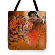 Tiger Woods Or Earn Your Stripes Tote Bag