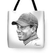 Tiger Woods Smile Tote Bag