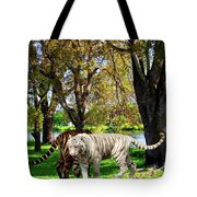 Tigers By The City Tote Bag