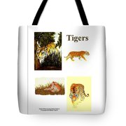 Tigers Montage Tote Bag