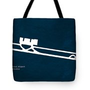 Tij Tijuana International Airport In Tijuana Mexico Runway Silho Tote Bag