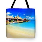 Tiki Bar In Aruba Tote Bag