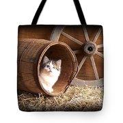 Tiki In The Old Barrel Tote Bag