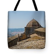 Tile Roof Tops Of Volterra Italy Tote Bag