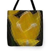 Tiled Yellow Tulip Tote Bag