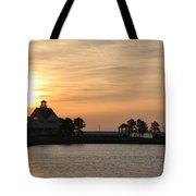 Tilghman Island Marina At Sunrise Tote Bag