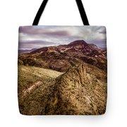 Tilt-shift Mountain Peak Tote Bag