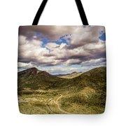 Tilt-shift Mountain Road Tote Bag
