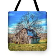 Tilted Log Cabin Tote Bag