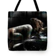 Tilted Water Girl Tote Bag