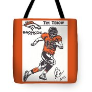 Tim Tebow 1 Tote Bag by Jeremiah Colley