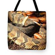 Timber Rattlesnake Horizontal Tote Bag