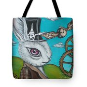 Time Flies For The White Rabbit Tote Bag