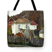 Time For Use The Stove. November In The Serbia. Tote Bag