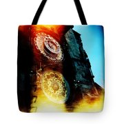 Time Is Burning Tote Bag