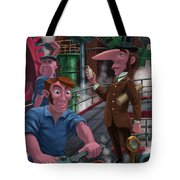 Time Keeping Victorian Inventor Tote Bag by Martin Davey