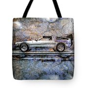 Time Machine Or The Retrofitted Delorean Dmc-12 Tote Bag