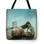Time Of The Snail Tote Bag