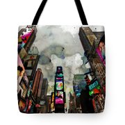 Time Square Mixed Media Tote Bag