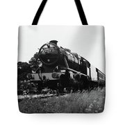Time Travel By Steam B/w Tote Bag