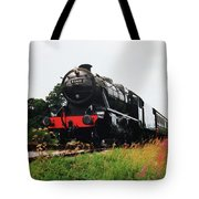 Time Travel By Steam Tote Bag by Martin Howard