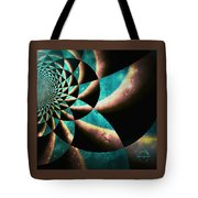 Time Travel Galaxy Portal To The Stars - Teal Green Tote Bag