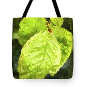 Time Travel Summer Leaves Tote Bag