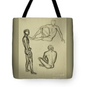 Timed Gestures Exercise Tote Bag by Angelique Bowman