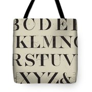 Times New Roman Tote Bag