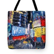 Times Square Abstracted Tote Bag