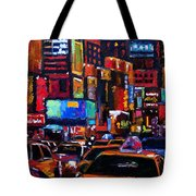 Times Square Tote Bag by Debra Hurd