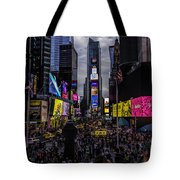 Times Square From The Steps Tote Bag