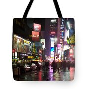 Times Square In The Rain 1 Tote Bag