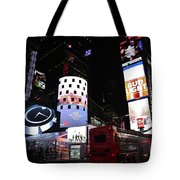 Times Square On News Year Eve Tote Bag