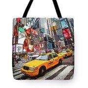 Times Square Pop Art Tote Bag