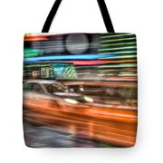 Times Square Traffic Tote Bag