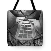 Time's Up - Black And White Tote Bag