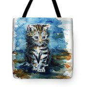 Timid Kitten Tote Bag