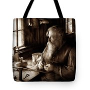 Tin Smith - Making Toys For Children - Sepia Tote Bag