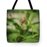 Tiny Bee On Wildflower Tote Bag