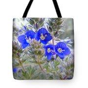 Tiny Blue Floral Tote Bag