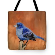 Tiny Blue Tote Bag