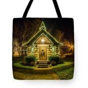 Tiny Chapel With Lighting At Night Tote Bag