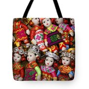 Tiny Chinese Dolls Tote Bag