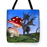 Tiny Fury Dragon Tote Bag