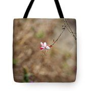 Tiny Red And White Wildflowers Tote Bag