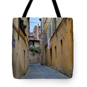 Tiny Street In Siena Tote Bag