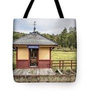 Tiny Train Station Barnet Vermont Tote Bag